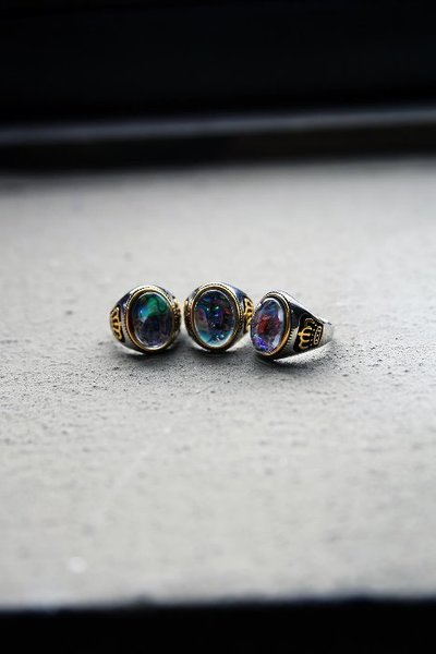 Opal Crown Metal Ring