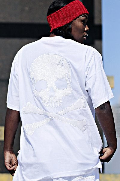 ByTheR White Skull T-shirt