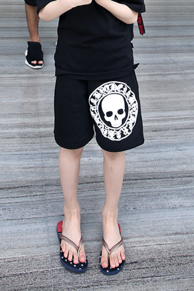 ByTheR Kids Skull Logo Big Printing Shorts