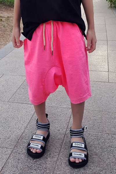 Kid's Neon-colored Baggy-fit Shorts