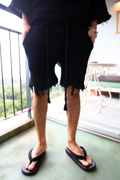 ByTheR Custom Loose Fit Knit Damage Shorts