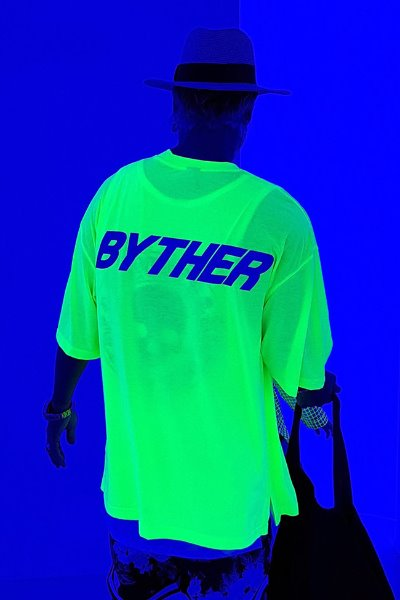 ByTheR Neon Lettering Scotch Reflective T-shirt