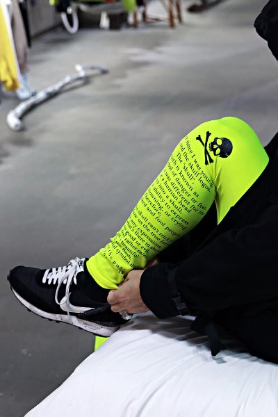 ByTheR  Skull Lettering Neon Leggings Tights