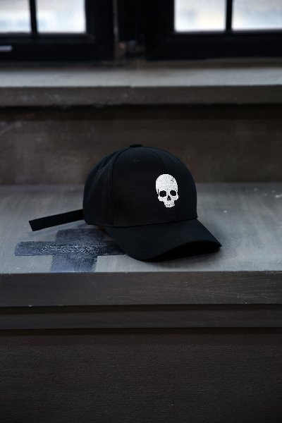 ByTheR Skull Logo Embroidered Ball Cap White