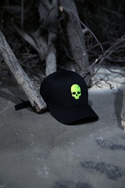 ByTheR Skull Logo Embroidered Ball Cap Lime