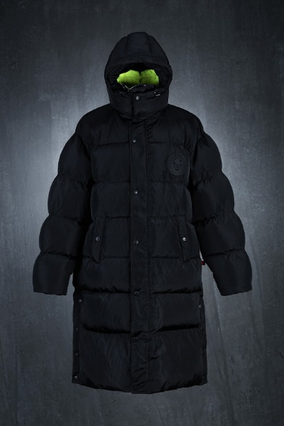 ByTheR Black Neon Duck Down Long Padded Jacket