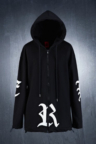 ByTheR Big Lettering Logo Zip-up Hoodie