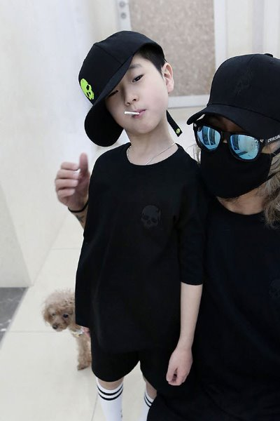 ByTheR Kids Skull Embroidery Short Sleeve Black