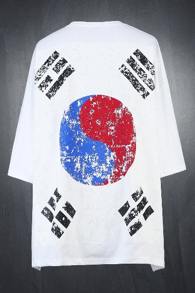 ByTheR Korean Taegeukgi Flag Loose Fit Short Sleeve Tee