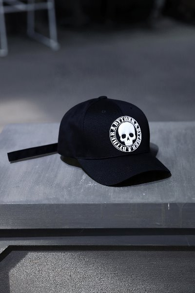 ByTheR Skull Logo Patch Cotton Ball Cap White