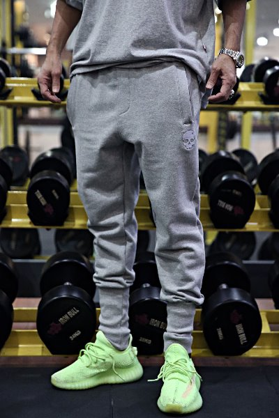ByTheR Skull Embroidered Cotton Jogger Pants