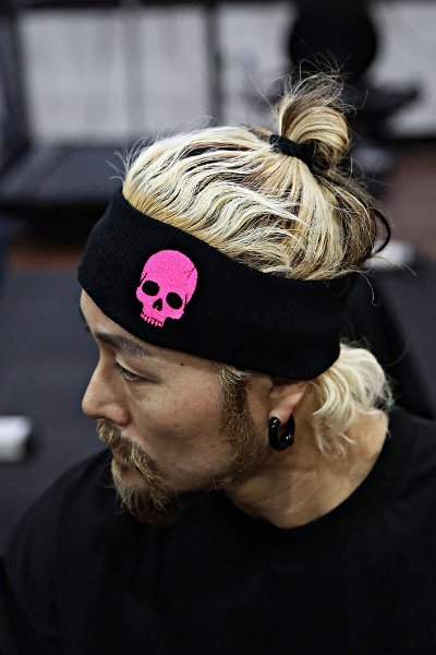 ByTheR Skull Embroidered Headband