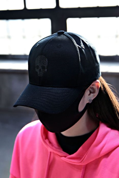 ByTheR Skull Logo Embroidered Ball Cap Black