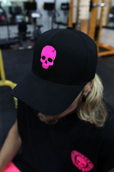ByTheR Skull Logo Embroidered Ball Cap Pink