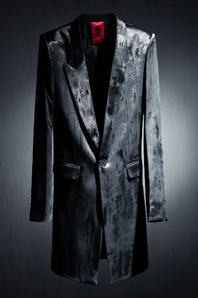ByTheR Custom Cover Painting Black Long Blazer