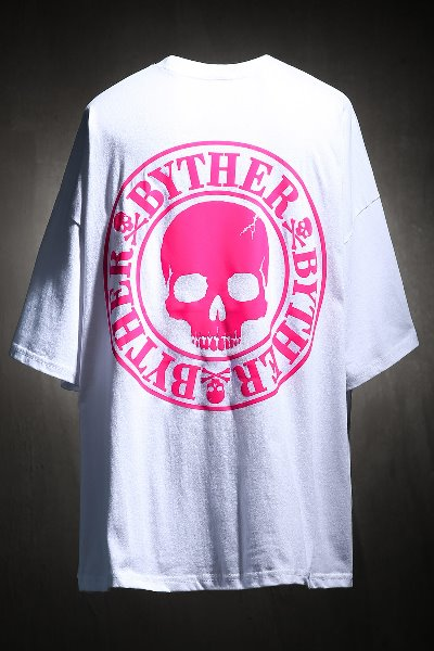 ByTheR Skull Logo Neon Color Scotch Refletive T-shirt