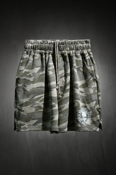 ByTheR Skull Logo Military Short Shorts