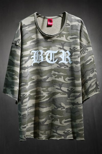 ByTheR Lettering Logo Military Cut T-Shirt