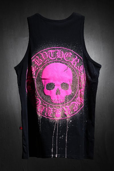 ByTheR Custom Dripping Bleach Skull Logo Embossing Sash Pink