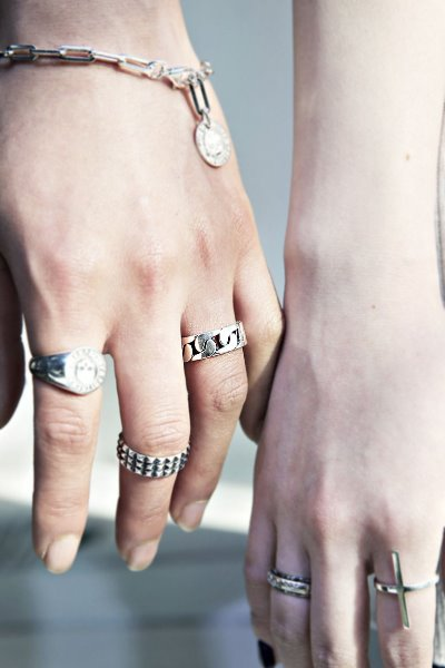 Bold Chain Flat Silver Ring