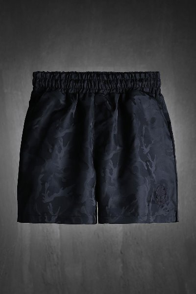 ByTheR skull embroidered military short shorts