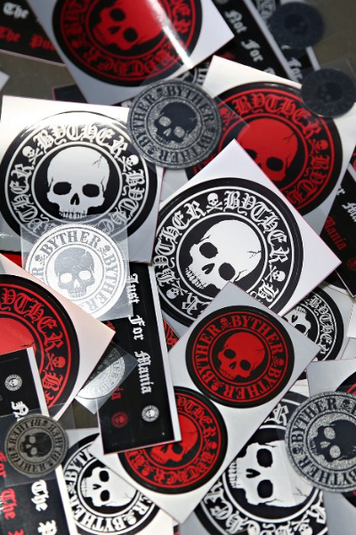 ByTheR Skull Logo Waterproof Sticker