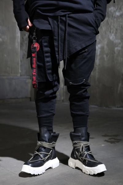 Pannel Layered Extra Band Jogger Pants
