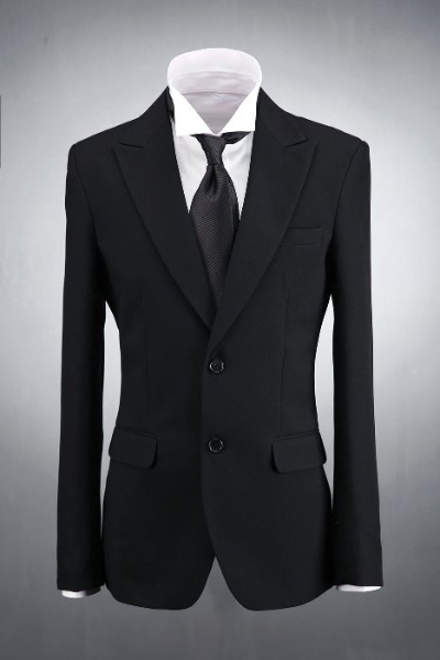 Black Classic Two Button Suit Jacket