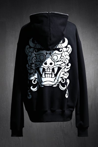 Mukha Vintage Printed Hood Zip Up