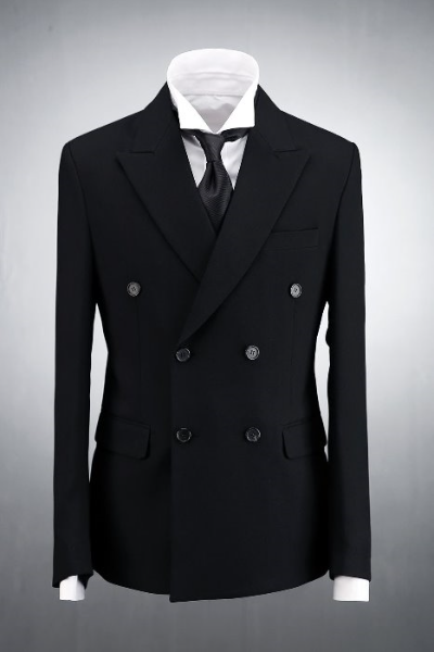 Black Classic Double Jacket Suit