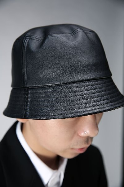 Leather Short Bucket Hat