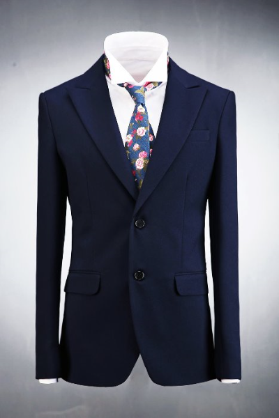 Navy Classic Two Button Jacket