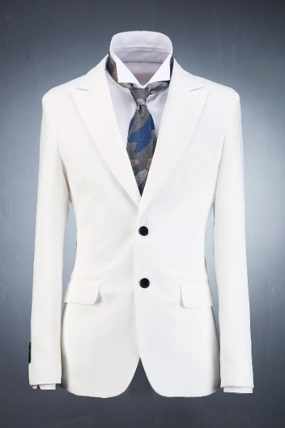 Ivory Classic Two Button Suit