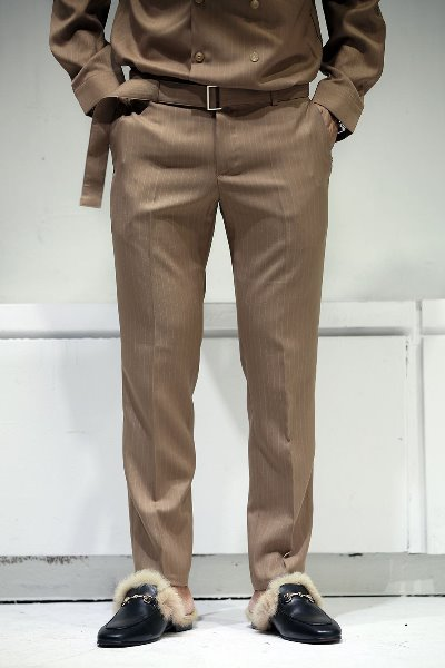 Striped Twin Belt Slacks