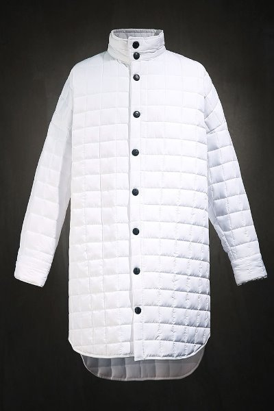 ByTheR Qualting Long Padded Shirt Jacket White