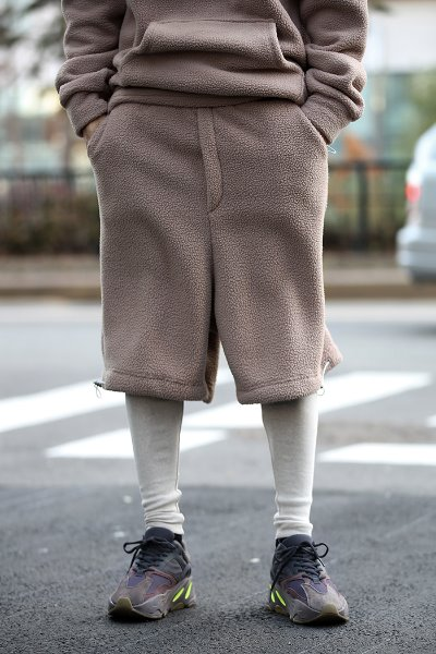 Leggings Layered Fleece Shorts