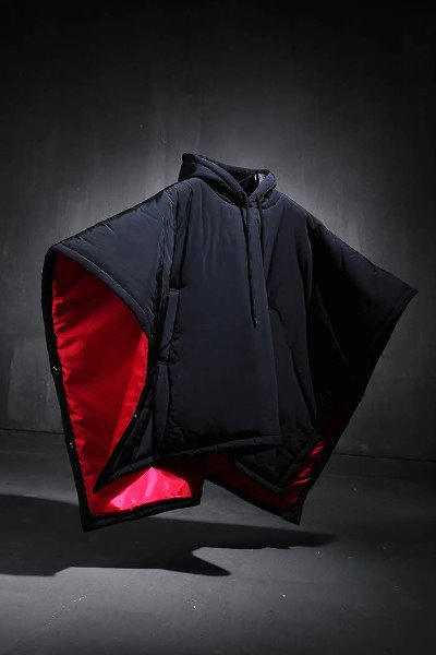 ByTheR hooded padded cape
