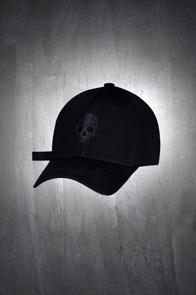 ByTheR 3D Skull Embroidery Ball Cap Black