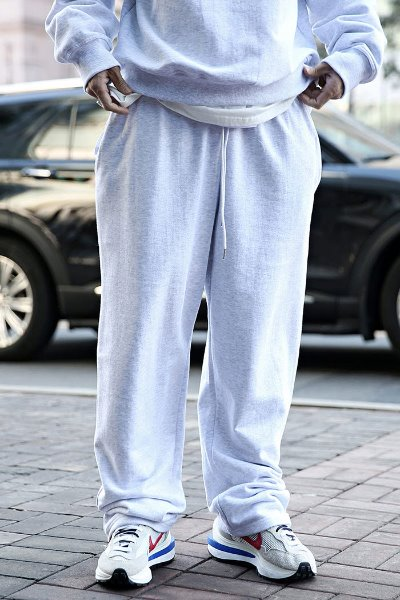 Loose Fit Cotton Training Wide Pants