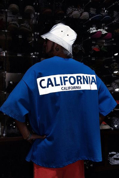 California Luminous Reflective Loose Fit Short Sleeve Tee