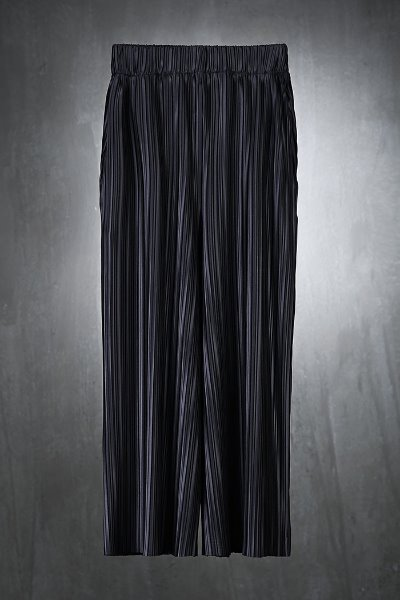 Mukha soft pleated wide trousers