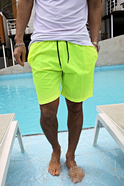Neon point banding shorts