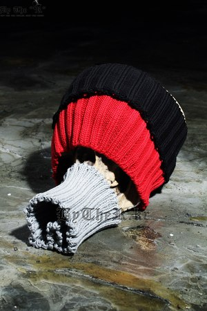 ByThe Thick Corduroy Pattern Wide Knit Headband Hat