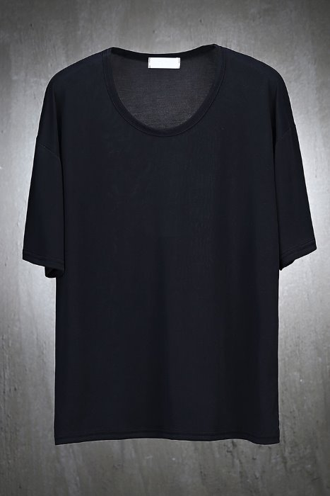 Soft Modal U Neck Loose Fit Short Sleeve Tee