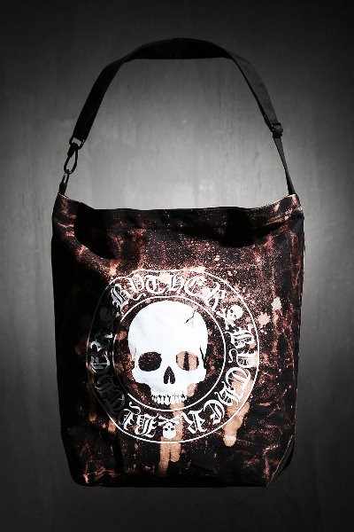 ByTheR Custom Dot Bleach Skull Logo Oversized Cross Shoulder Bag
