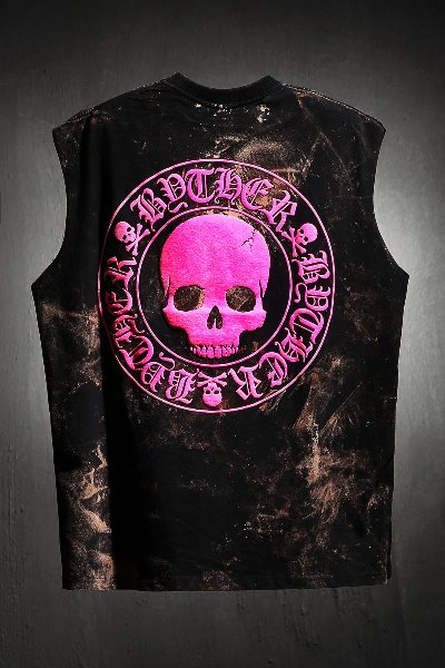 ByTheR Custom Rough Bleach Skull Logo Cutting Box Top Pink
