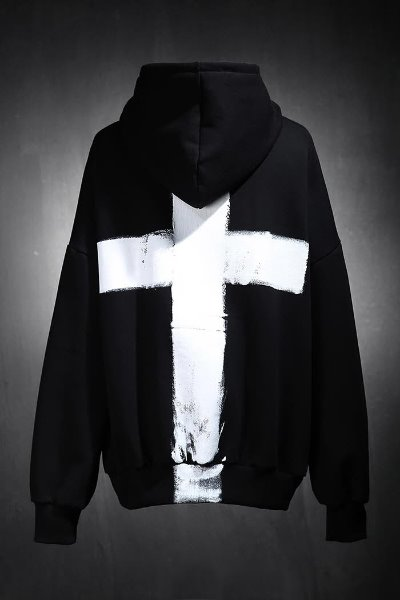 ProjectR Custom Cross Painting Hoodie