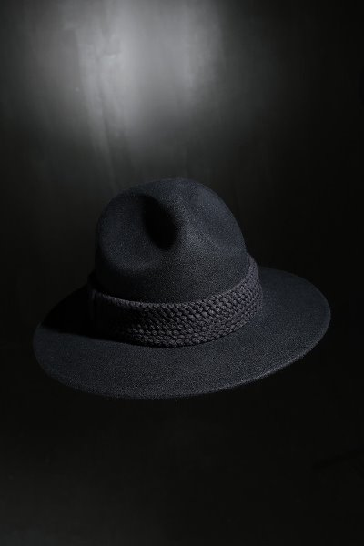 Mukha Flat Rope Mountain Fedora Black
